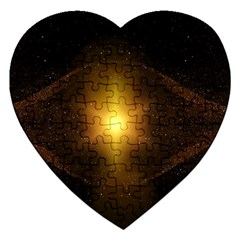 Background Christmas Star Advent Jigsaw Puzzle (heart) by Nexatart