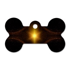 Background Christmas Star Advent Dog Tag Bone (two Sides)