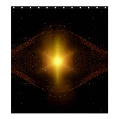 Background Christmas Star Advent Shower Curtain 66  X 72  (large)  by Nexatart