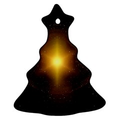 Background Christmas Star Advent Christmas Tree Ornament (two Sides)