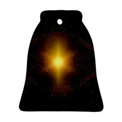 Background Christmas Star Advent Bell Ornament (two Sides)