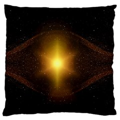 Background Christmas Star Advent Large Flano Cushion Case (one Side)