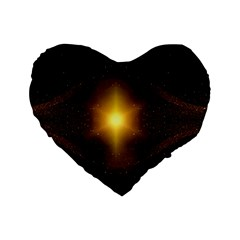Background Christmas Star Advent Standard 16  Premium Flano Heart Shape Cushions by Nexatart