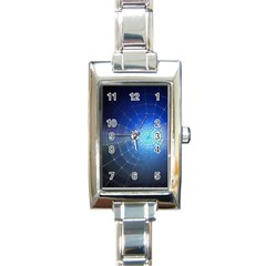 Network Cobweb Networking Bill Rectangle Italian Charm Watch