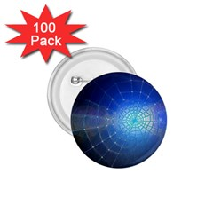 Network Cobweb Networking Bill 1 75  Buttons (100 Pack)