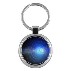 Network Cobweb Networking Bill Key Chains (round)