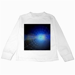 Network Cobweb Networking Bill Kids Long Sleeve T Shirts