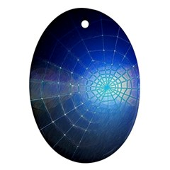 Network Cobweb Networking Bill Oval Ornament (two Sides) by Nexatart