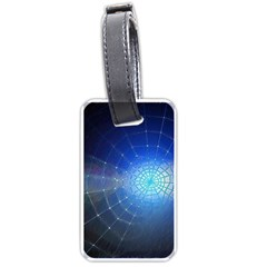 Network Cobweb Networking Bill Luggage Tags (one Side)  by Nexatart