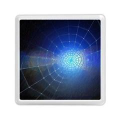 Network Cobweb Networking Bill Memory Card Reader (square)  by Nexatart