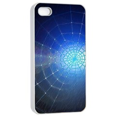 Network Cobweb Networking Bill Apple Iphone 4/4s Seamless Case (white) by Nexatart