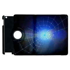 Network Cobweb Networking Bill Apple Ipad 2 Flip 360 Case by Nexatart