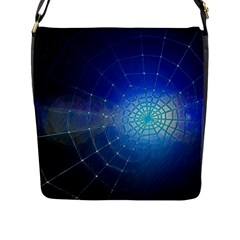 Network Cobweb Networking Bill Flap Messenger Bag (l)  by Nexatart