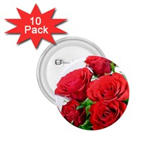 A Bouquet Of Roses On A White Background 1 75  Buttons (10 Pack) by Nexatart