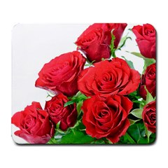 A Bouquet Of Roses On A White Background Large Mousepads by Nexatart