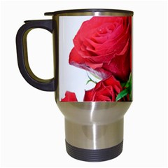 A Bouquet Of Roses On A White Background Travel Mugs (white)
