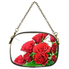 A Bouquet Of Roses On A White Background Chain Purses (two Sides)  by Nexatart