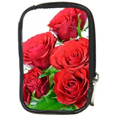 A Bouquet Of Roses On A White Background Compact Camera Cases by Nexatart