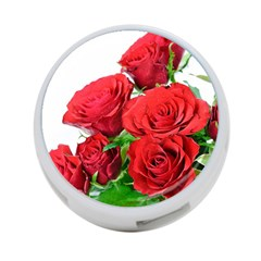 A Bouquet Of Roses On A White Background 4 Port Usb Hub (one Side) by Nexatart