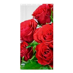 A Bouquet Of Roses On A White Background Shower Curtain 36  X 72  (stall)