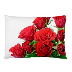 A Bouquet Of Roses On A White Background Pillow Case (two Sides)