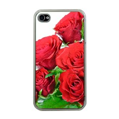 A Bouquet Of Roses On A White Background Apple Iphone 4 Case (clear) by Nexatart
