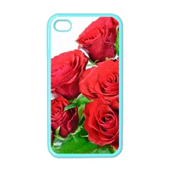 A Bouquet Of Roses On A White Background Apple Iphone 4 Case (color)