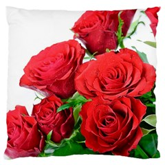A Bouquet Of Roses On A White Background Large Cushion Case (two Sides)