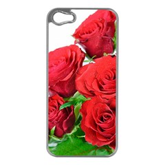 A Bouquet Of Roses On A White Background Apple Iphone 5 Case (silver) by Nexatart