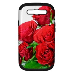 A Bouquet Of Roses On A White Background Samsung Galaxy S Iii Hardshell Case (pc+silicone)