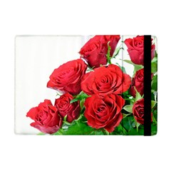A Bouquet Of Roses On A White Background Apple Ipad Mini Flip Case