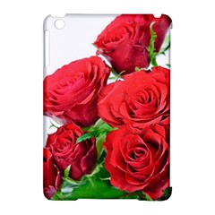 A Bouquet Of Roses On A White Background Apple Ipad Mini Hardshell Case (compatible With Smart Cover)