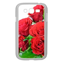 A Bouquet Of Roses On A White Background Samsung Galaxy Grand Duos I9082 Case (white)