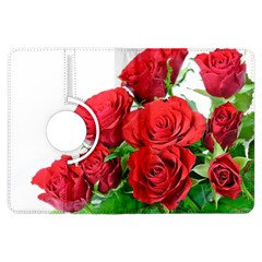 A Bouquet Of Roses On A White Background Kindle Fire Hdx Flip 360 Case by Nexatart