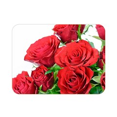 A Bouquet Of Roses On A White Background Double Sided Flano Blanket (mini)  by Nexatart