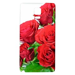 A Bouquet Of Roses On A White Background Galaxy Note 4 Back Case