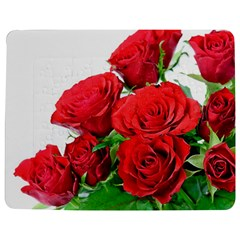 A Bouquet Of Roses On A White Background Jigsaw Puzzle Photo Stand (rectangular)