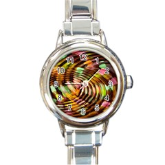Wave Rings Circle Abstract Round Italian Charm Watch