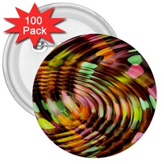 Wave Rings Circle Abstract 3  Buttons (100 Pack)