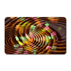 Wave Rings Circle Abstract Magnet (rectangular)