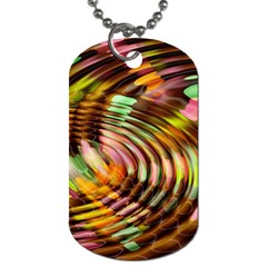 Wave Rings Circle Abstract Dog Tag (one Side) by Nexatart