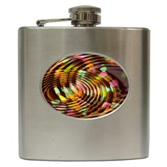 Wave Rings Circle Abstract Hip Flask (6 Oz)