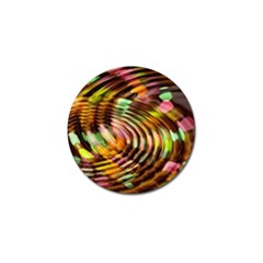Wave Rings Circle Abstract Golf Ball Marker