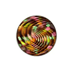 Wave Rings Circle Abstract Hat Clip Ball Marker