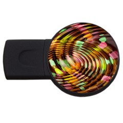 Wave Rings Circle Abstract Usb Flash Drive Round (4 Gb) by Nexatart