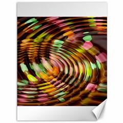Wave Rings Circle Abstract Canvas 36  X 48   by Nexatart