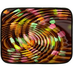 Wave Rings Circle Abstract Fleece Blanket (mini) by Nexatart