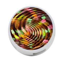 Wave Rings Circle Abstract 4 Port Usb Hub (one Side) by Nexatart
