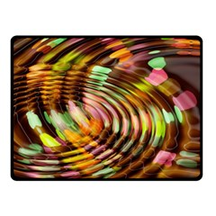 Wave Rings Circle Abstract Fleece Blanket (small)