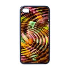 Wave Rings Circle Abstract Apple Iphone 4 Case (black) by Nexatart